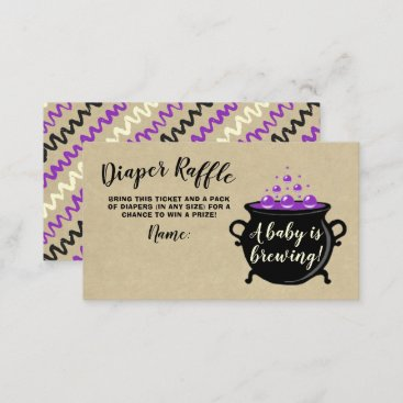 A Sweet Baby Is Brewing Halloween Baby Shower Enclosure Card