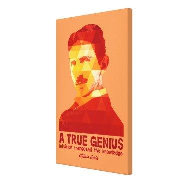 A True Genius -Nikola Tesla- Canvas Print