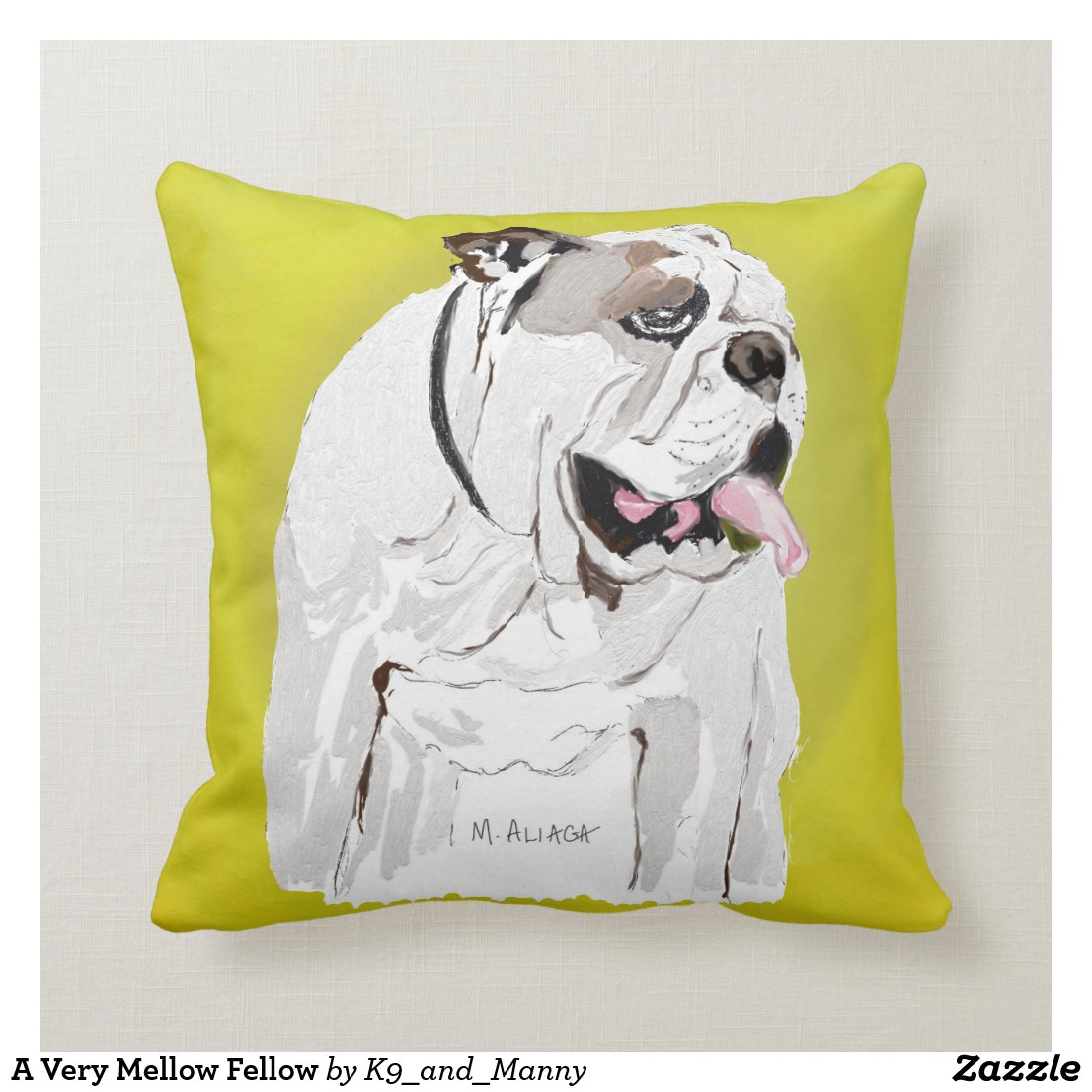 A Very Mellow Fellow Throw Pillow