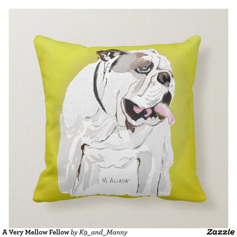 A Very Mellow Fellow Throw Pillow