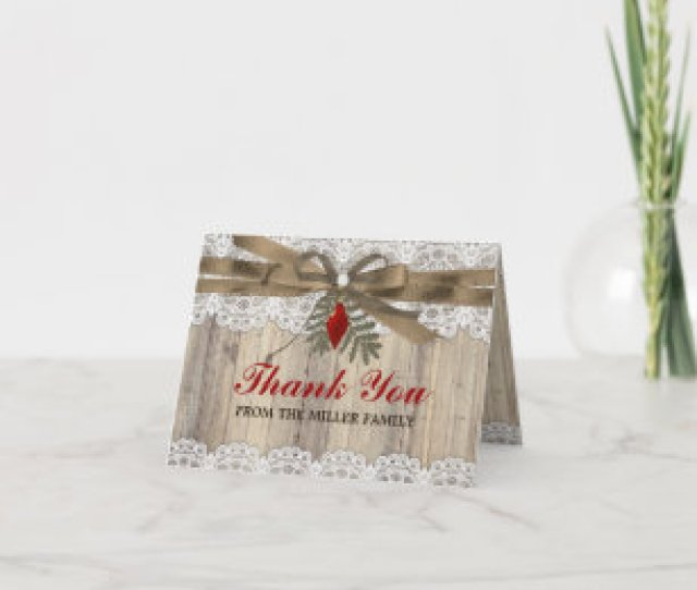 A Very Merry Vintage Christmas Thank You Card