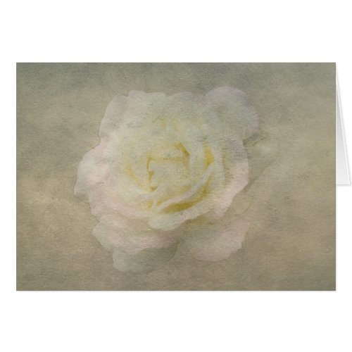 A Vintage Rose Romance Greeting Card