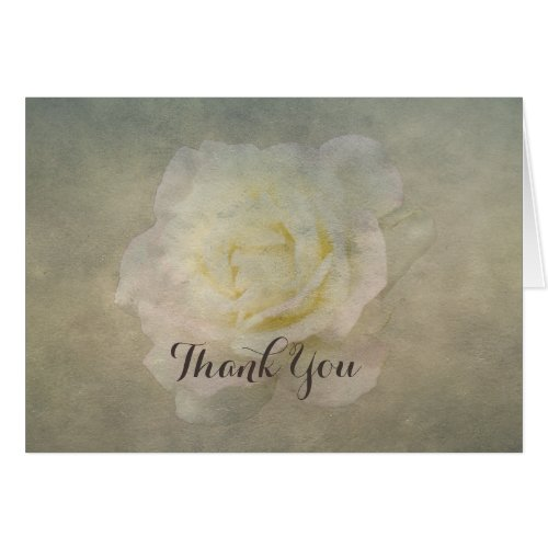 A Vintage Rose Romance Thank-You Stationery Note Card
