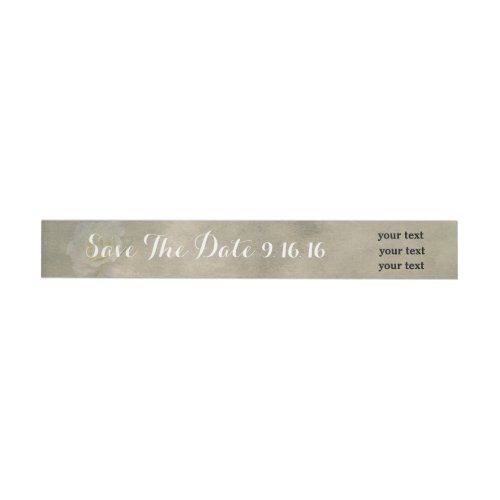 A Vintage Rose Romance Wrap Label Wraparound Address Label