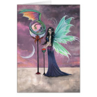A Vivid Dream Fairy and Dragon Greeting Card