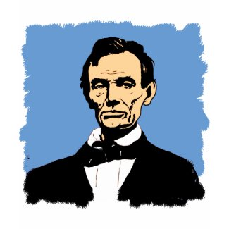 Abraham Lincoln Illustration on Blue shirt