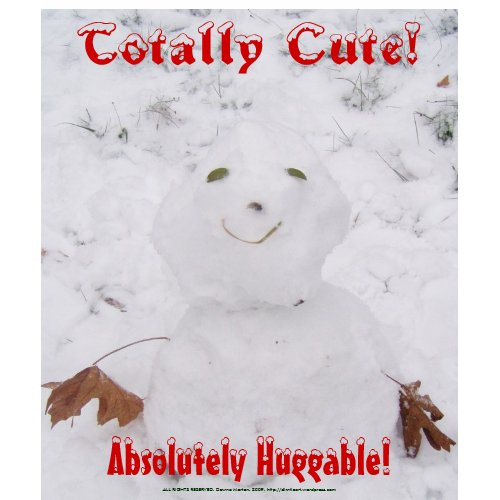 Absolutely Huggable!, Totally Cute! snowman shirt