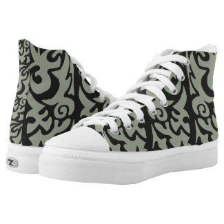 Absract Pattern Tribal Shoes Printed Shoes