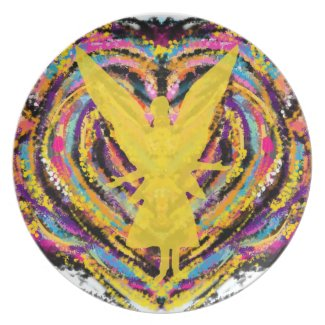 Abstract Angel Art Plate
