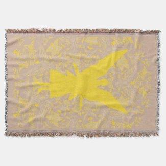 Abstract Angel Art Throw Blanket