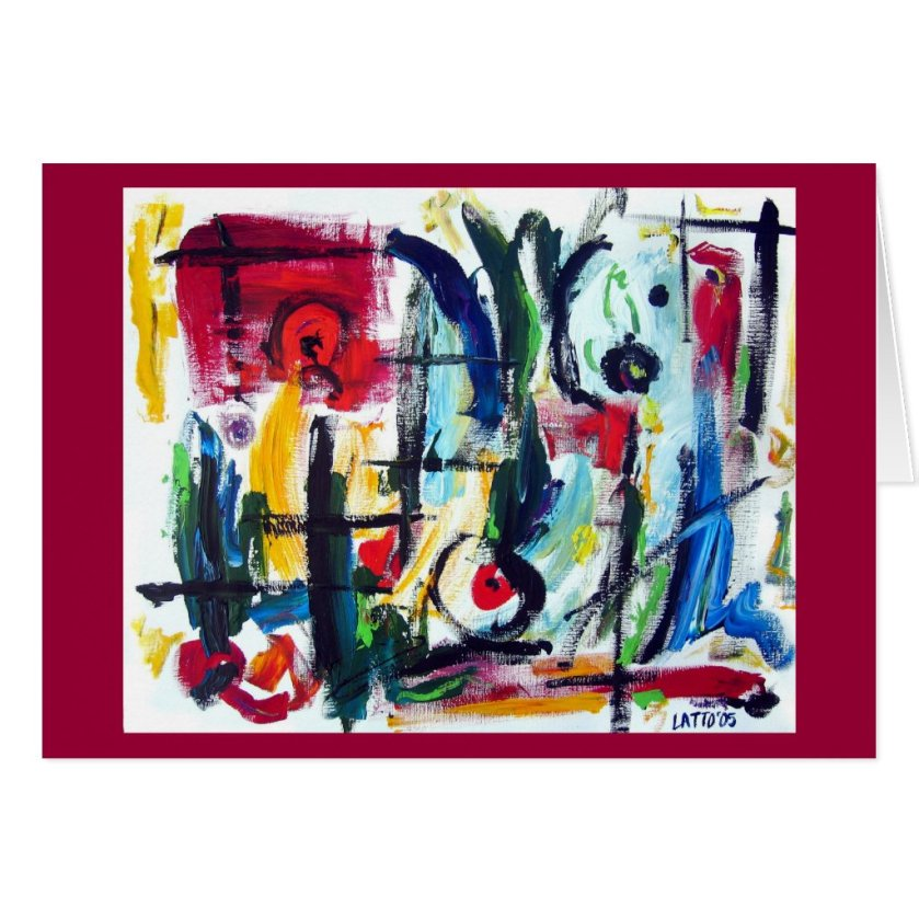 Abstract Color Whimsy Card