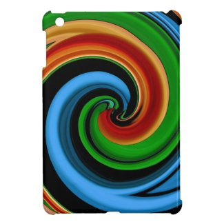 Abstract Colorful Swirls iPad Mini Case