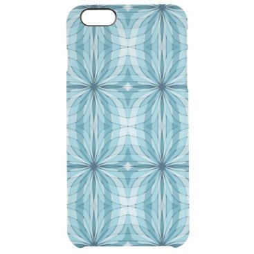 Abstract Curves and Lines blue Clear iPhone 6 Plus Case