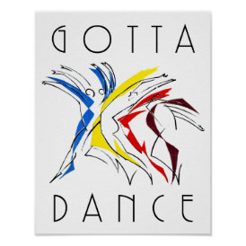Abstract Dancers Dancing - Dance Lover Artwork Poster