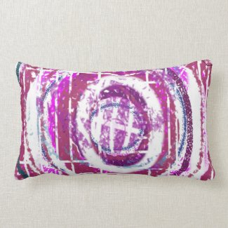 Abstract Designer Pillow by Barbara Dean Aliaga