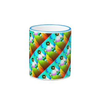 Crystal Sunrise - Abstract Fractal Rainbow smaller Mug