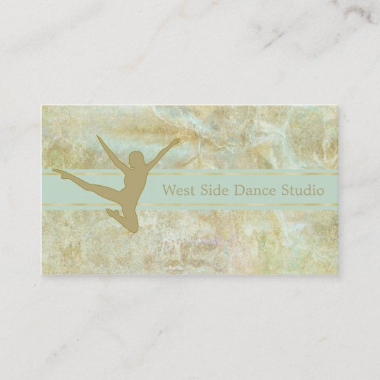 Abstract Gold Dancer Business Card