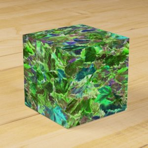Abstract Leaves Nature Pattern Favor Box