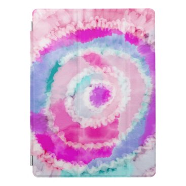 Abstract Modern Girly Pink White Tie Dye Paint iPad Pro Cover