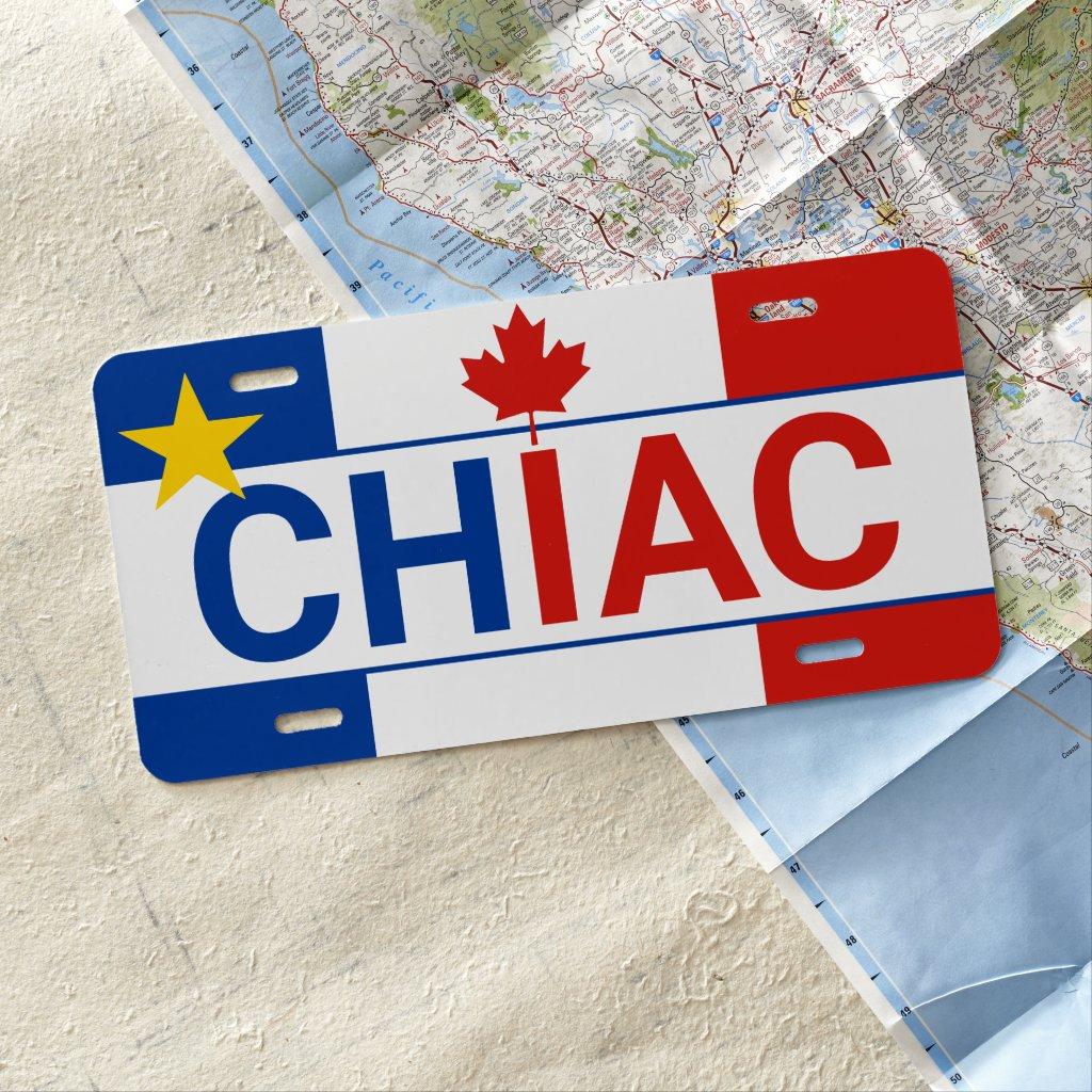 Acadian Chiac Canadian License Plate
