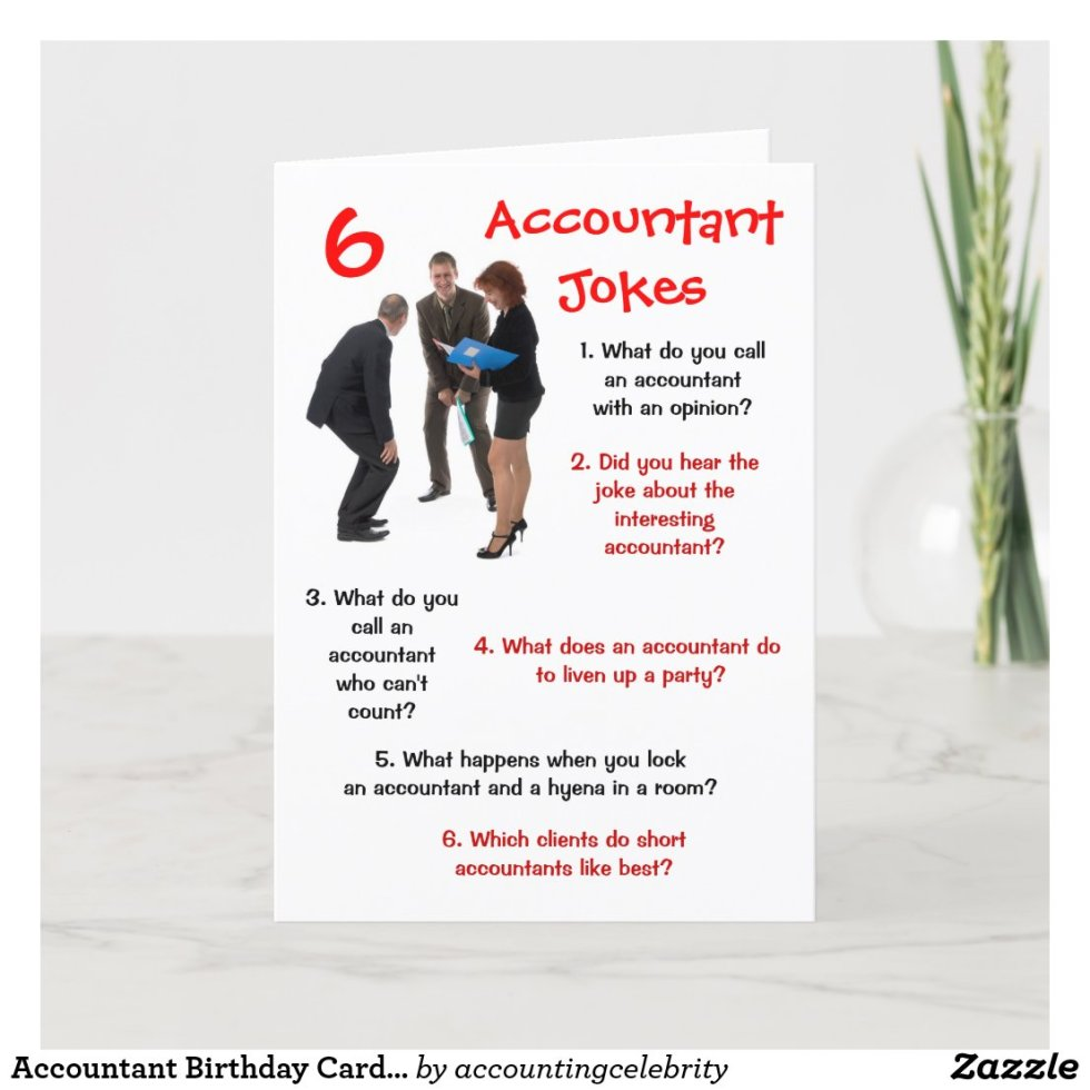 Accountant - 6 Accountant Jokes Funny Birthday Card