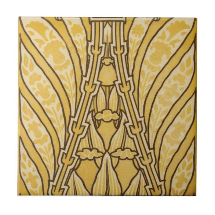 ad005 art deco reproduction ceramic tile zazzle com
