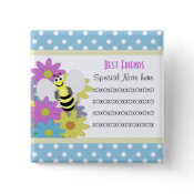Add A Note Friendship Bee Button button