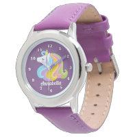 Add name girls Magical unicorn watch