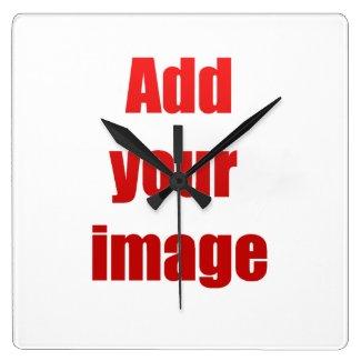 Add your image wall clocks