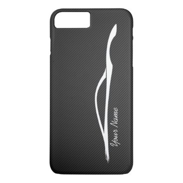 """add your name"" Infiniti G37 White Silhouette iPhone 8 Plus/7 Plus Case"