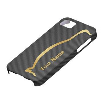 Add your name - Mitsubishi EVO gold silhouette iPhone SE/5/5s Case
