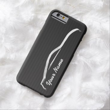 """add your name"" Nissan 350z w/ Faux Carbon Fiber Barely There iPhone 6 Case"