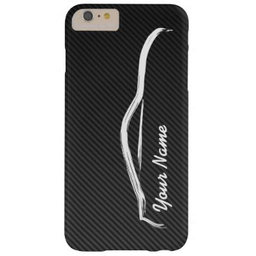 """add your name"" Nissan 350z w/ Faux Carbon Fiber Barely There iPhone 6 Plus Case"