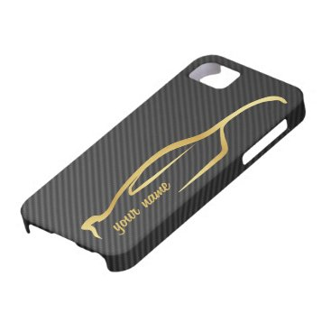"""""""add your name"""" Skyline Gold Silhouette Logo iPhone SE/5/5s Case"""