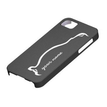 """""""add your name"""" STI White Silhouette iPhone SE/5/5s Case"""