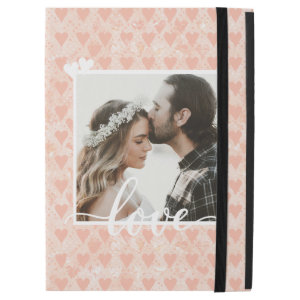 Add Your Own Custom Photo Love Hearts in Rose Gold iPad Pro 12.9