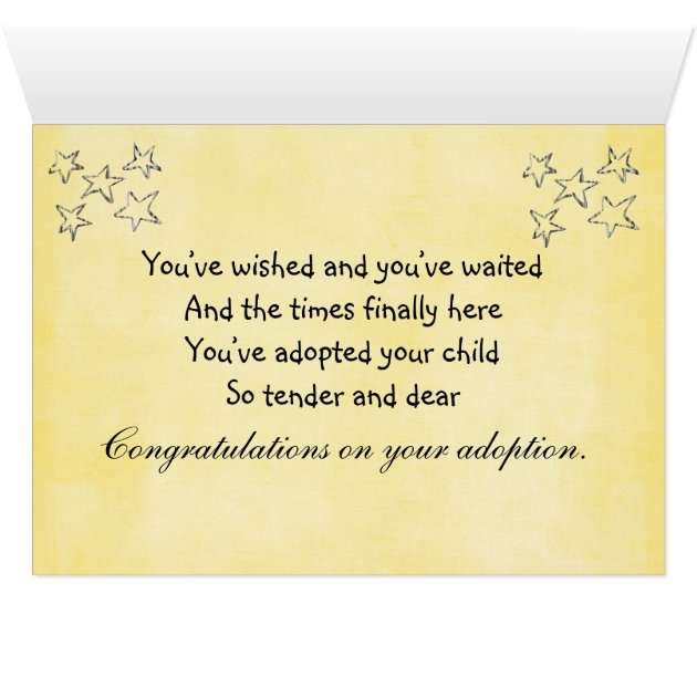 Adoption Congratulations Card Zazzle