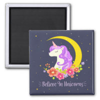 Adorable Believe in Unicorns | Magnet