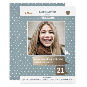 Adult 21st Birthday Woman | Photo Card