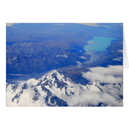 Aerial View of Aoraki/Mount Cook in New Zealand card