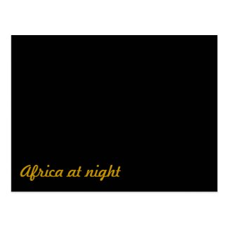 Africa at night postcard