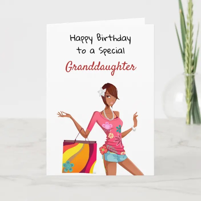 African American Birthday Card For Granddaughter Zazzle Com