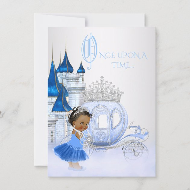 african american cinderella princess birthday invitation zazzle com