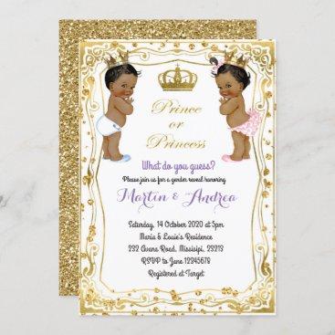 African Prince or Princess Gender Reveal Invitation