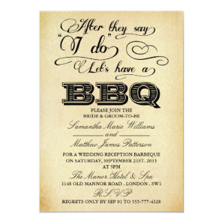After They Say I Do Lets Have A Bbq Vine Card