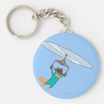 Agent P Flying Keychain