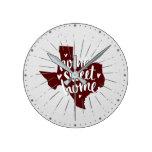 Aggies Maroon Home Sweet Home - Texas Round Clock