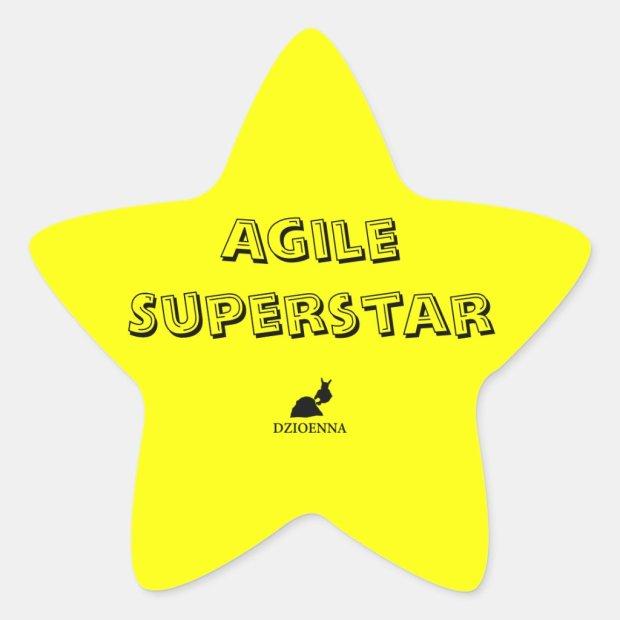 Agile Superstar Stickers