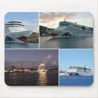 AIDAluna Cruise Ship Collage Mouse Pads