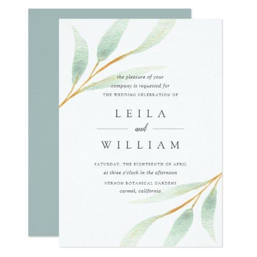 Airy Botanical | Wedding Invitation